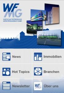 WFMG App Startscreen